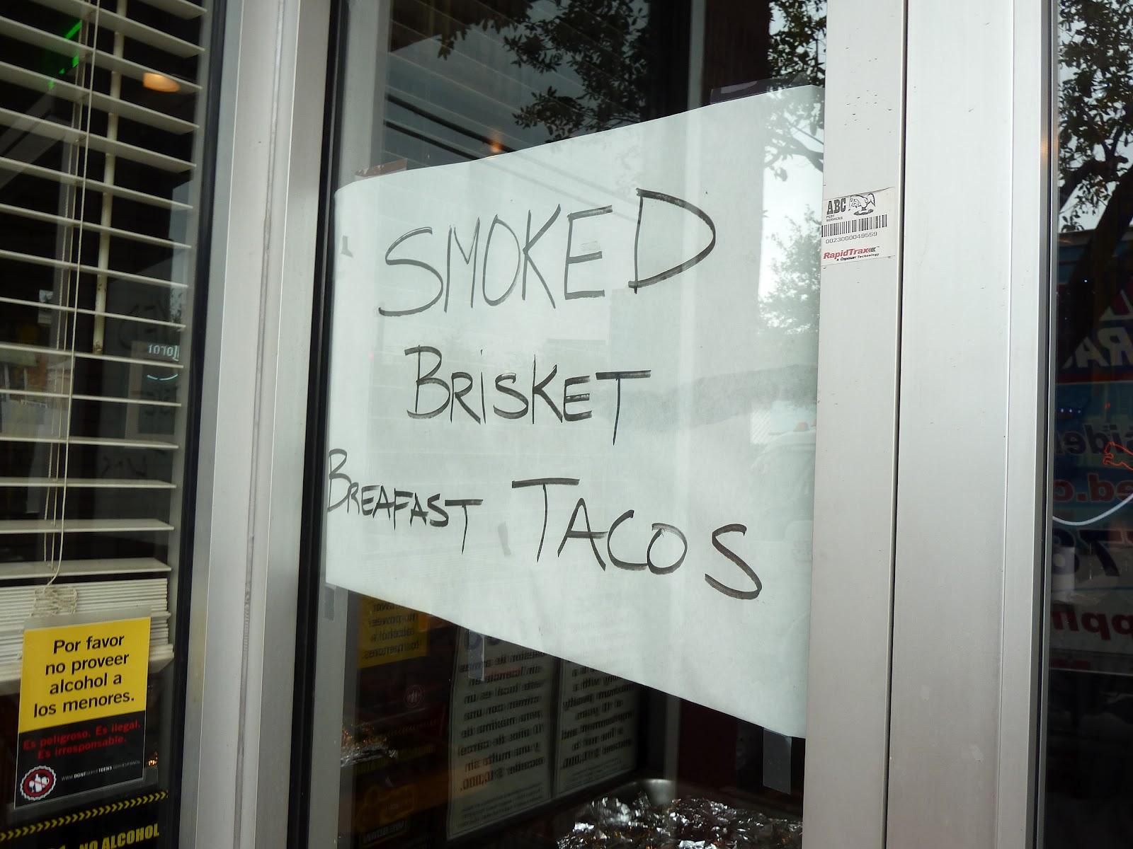 Lockhart Smokehouse\'s Brisket Breakfast Taco | The Taco Trail