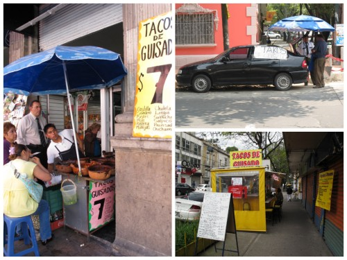 Sampling of Guisados Stands