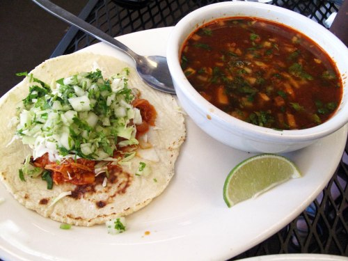 Tinga and Consome de Borrego