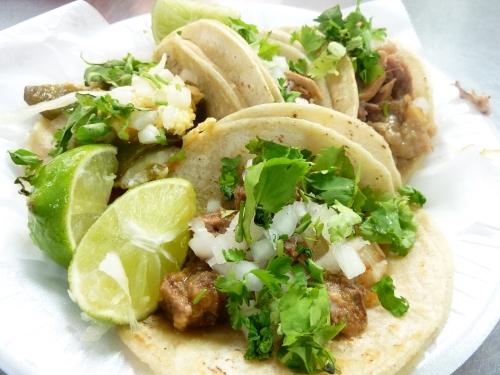 A plate of La Guadalupana's tacos