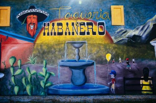 Taqueria Habanero mural, photo by Catherine Downes